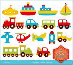 Instant Downloads Digital Clip Art Toys Personal and by BaBaPuff