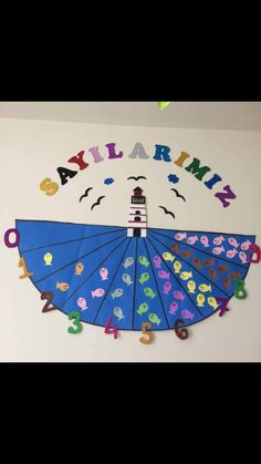 Top 40 Examples for Handmade Paper Events - Everything About Kindergarten High School Classroom, Preschool Classroom, Classroom Decor, 4 Year Old Activities, Preschool Activities, Number Activities, Old English Decor, Kids English, Preschool Arts And Crafts