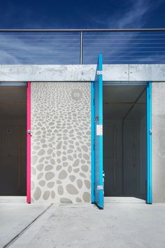 Graphic Concrete reference: Milford-on-Sea Beach Huts