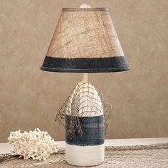 Maritime Buoy Table Lamp Denim