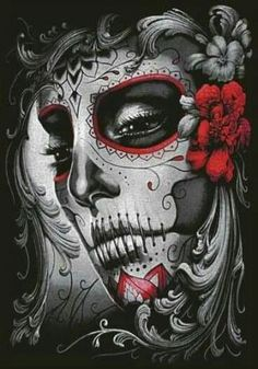 New tattoo ideas female skull awesome 22 ideas – tatoo La Muerte Tattoo, Catrina Tattoo, Sugar Skull Mädchen, Sugar Skull Tattoos, Day Of The Dead Girl, Day Of The Dead Skull, New Tattoos, Body Art Tattoos, Girl Tattoos
