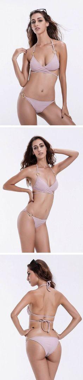 Coffee Solid Sexy Bikini Halter Bikini, Sexy Bikini, Bikini For Women, Bikinis, Swimwear, Coffee, Shopping, Fashion, Bathing Suits