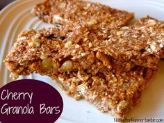 Cherry Granola Bars made with @Chobani only 94 calories