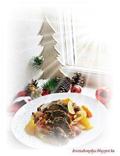 Kriszta konyhája- Sütni,főzni bárki tud!: Kacsamell diós sütőtökágyon ( paleo )