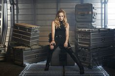 DC's Legends of Tomorrow DC's Legends Of Tomorrow- Pictured: Caity Lotz as Sara/White Canary -- Photo: Brendan Meadows/The CW -- © 2015 The CW Network, LLC. All rights reserved.