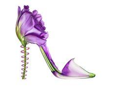 Shoefleur by Michel Tcherevkoff. #petals #heels #shoes added by @Dennis Kashkin