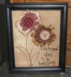 ...maybe make the flowers out of burlap and lace and the stems out of twigs or jute and the words out of jute?