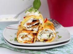 ✅Warum immer Pfannkuchen süß essen? ✅ Diese herzhaften Ofenpfannkuchen mit Feta und Gemüse schmecken mindestens genauso gut! :-) ✅