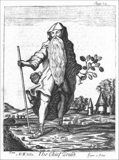 """The Chief Druid"" from ""Mona Antiqua Restaurata"", 1723."