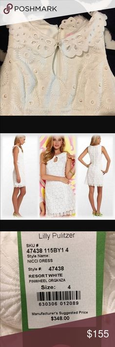 ⭐️NEW Lilly Pulitzer white dress Adorable white BRAND NEW Lily Pulitzer dress! So perfect for any occasion Lilly Pulitzer Dresses Midi