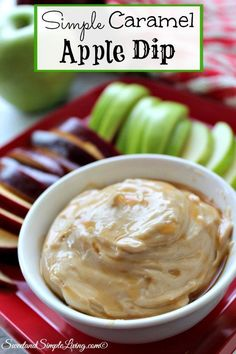 I don't think I've ever done an easier recipe than this Simple Caramel Apple Dip! I love recipes that are no fuss and yet so kid friendly and delicious!