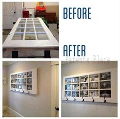 Old Door Picture Frame Coat Hanger Rack ~ great idea! ~ would look awesome in a mud room ~ DIY Home Projects, Home Crafts, Diy Home Decor, Diy Crafts, Recycle Crafts, Room Decor, Diy Decoration, Backyard Projects, Wall Decorations