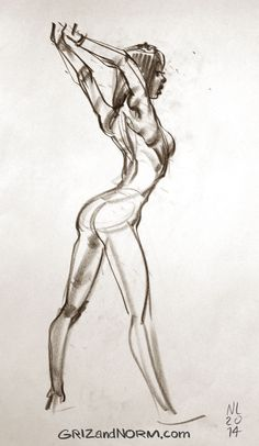 Life Drawing 08/07/14 Very athletic model. It's rare to see such definition and…