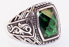 925 Sterling Silver Men's Ring with Absolutely Handmade