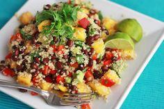 Confetti Quinoa Salad with Lime Vinaigrette I One Lovely Life