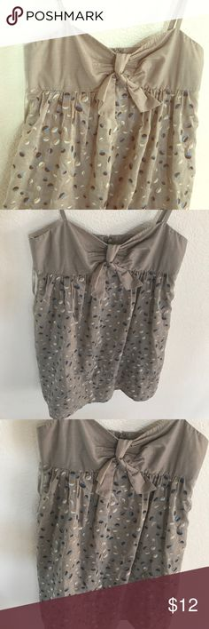NWOT baby doll Brown and blue bcbg maxazria sz 4 Super cute by BCBG Max as Zaria a cute baby style dress spaghetti straps bowl in the front like new condition never been worn lined underneath excellent quality fits true to size zipper in back and above knee would consider a mini to midi baby doll BCBGMaxAzria Dresses