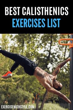 Learn fundamental basics and advanced techniques from the most comprehensive Calisthenics exercises list. Over 20 Calisthenics exercises performed by expert trainers with years of experience! Workout Plan For Men, Workout Routine For Men, Home Exercise Routines, Workout Men, Workout Plans, Strenght Training, Bodyweight Strength Training, Muscle Fitness, Health Fitness