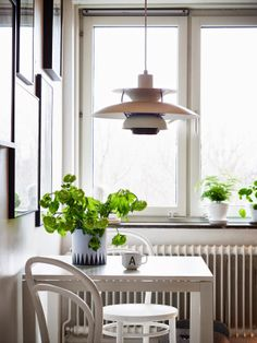 Dining nook in a kitchen, Scandinavian style