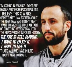 I love Spurs team and I'm so lustin' after LA, I admire KL strength and I miss TD but my fave will be MG ☺