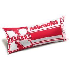 Nebraska College Style 48x19 Body Pillow - Seal