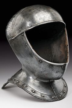 A composite helmet, dating: circa 1500  provenance: Germany