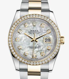 Rolex Datejust Watch: Yellow Rolesor - combination of 904L steel and 18 ct yellow gold - 116243