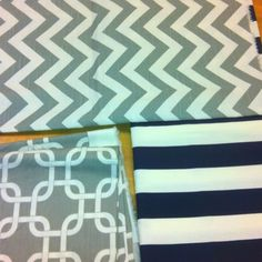 Gray and navy fabric