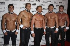 Ian Ziering, 49, displays buff torso and six-pack abs for Chippendales in Las Vegas