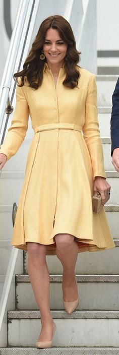 Who made  Kate Middleton's yellow coat?