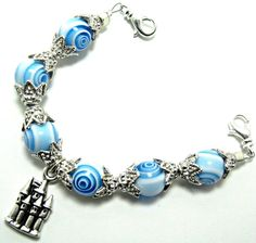 Castle in the Sky Blue and White Beaded Medical by StringtownBeads, $31.10