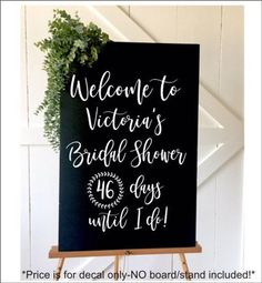 Welcome Bridal Shower Decal Personalized Shower Vinyl Decal Handwritten Style Modern Font Bridal Shower Decor DIY Decal for Chalkboard Sign #bridal #decal #personalized #shower #vinyl #welcome