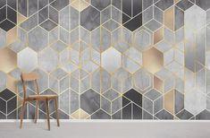 Gold Hexagons - Heavy