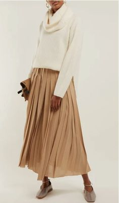 Cold Cream, Roll Neck Sweater, Midi Skirt, Women Wear, Skirts, Sweaters, Shopping, Collection, Fashion