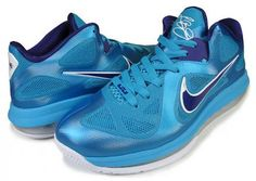 NIKE LEBRON 9 LOW TURQUOISE BLUE/COURT PURPLE sneaker
