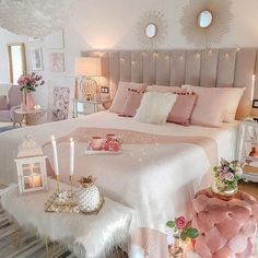 33 Stylish Bedroom Decorating Ideas To Inspire You Teenage Room Decor, Bedroom Decor For Teen Girls, Cute Bedroom Ideas, Room Ideas Bedroom, Home Decor Bedroom, Bedroom Interiors, Bed Room, Bedroom Ideas For Women, Small Girls Bedrooms