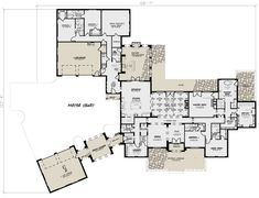 European Plan: 5,695 Square Feet, 5 Bedrooms, 6 Bathrooms - 8318-00082 House Plans 2 Story, Family House Plans, Ranch House Plans, Craftsman House Plans, New House Plans, Dream House Plans, House Floor Plans, Dream Houses, Family Houses