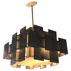 """Robert Sonneman """"Cityscape"""" Brutalist Chandelier 