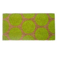 Paillasson en coco motif pois 40x80cm DOTS Vert