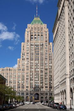 Detroit. The Fisher Building