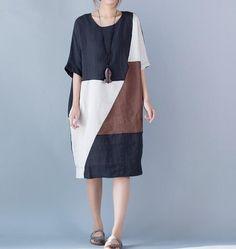 Women oversized bat sleeve dress large size black dress by MaLieb