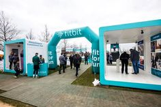 Fit Bit Event - This Fit Bit event was put on by the brand at a recent Sport Relief event at Olympic Park in London. The immersive event served as a product educat...