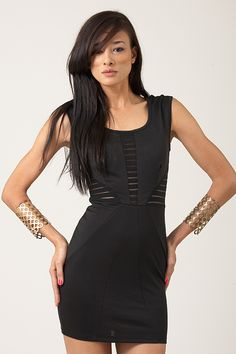Add a leggings and a boot and turn this black dress into a whole new outfit.  www.divany.com