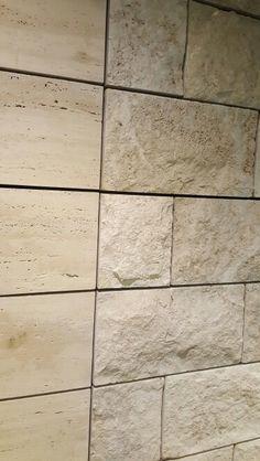 Wall cladding natural stone, hollowed travertine