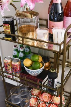 """Figure out even more details on """"gold bar cart styling"""". Look into our internet site. Diy Bar Cart, Gold Bar Cart, Bar Cart Styling, Bar Cart Decor, Bar Carts, Bar Trolley, Golf Carts, Dyi, Rolling Bar Cart"""