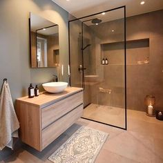 Scandinavian Bathroom Design Ideas, Modern Bathroom Design, Bathroom Interior Design, Bathroom Designs, Minimal Bathroom, Bath Design, Classic Bathroom, Bathroom Trends, Interior Modern