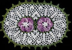 Double Pansy Doily crochet pattern from Star Doily Book No. by American Thread Company. Free Doily Patterns, Vintage Crochet Patterns, Crochet Designs, Free Pattern, Thread Crochet, Crochet Motif, Knit Crochet, Free Crochet, Crochet Dollies