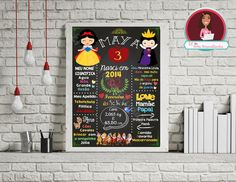 Chalkboard Branca de Neve Digital, festa branca de neve, quadro, chalkboard