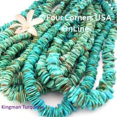 Designer American Turquoise Four Corners USA OnLine Southwest Jewelry Making Beading Supplies