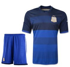 2014 World Cup jerseys Argentina national team away jersey short sleeve ball gown suit world cup jersey real madrid training $15.95