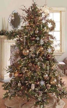 Gold & Tan Christmas Tree